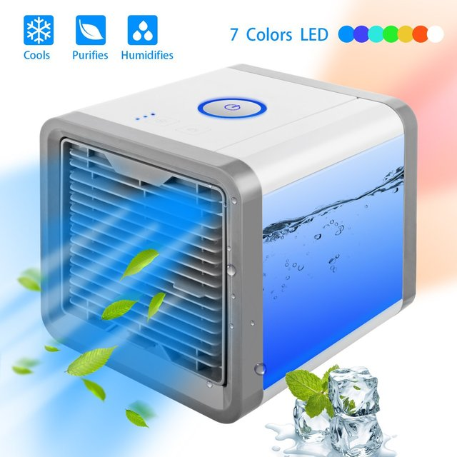 Mini USB Portable Air Conditioner Conditioning Humidifier Purifier 7 Colors Light Desktop Arctic Air Cooler Fan For Home Office 3