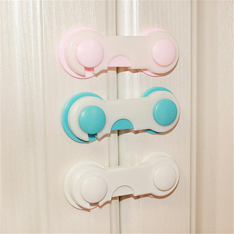Baby Multifunctional Safety Finger Care Plastic Adjustable Kids Drawer Cabinet Safety Lock Buckle Attach To Fridge And Drawer O3