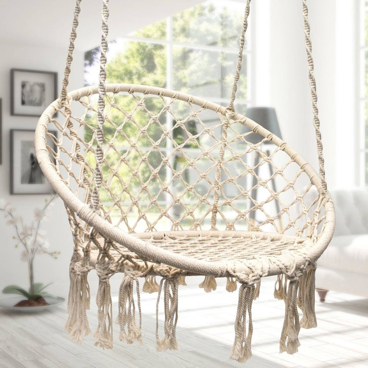 Nordic Style Hammock Furniture Swing Chair For Outdoor Indoor