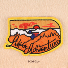 life of adventure parches Embroidered Iron on Patches for Clothing DIY Motif Stripes Clothes Stickers