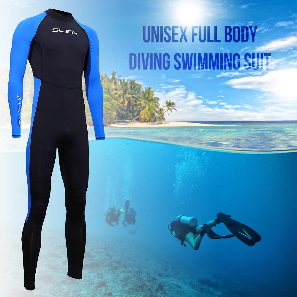 SLINX Full Body Diving Swimming Surfing Spearfishing Wet Suit UV Protection Snorkeling Surfing Diving Swimming Suit Wetsuit Men
