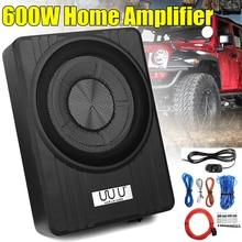 10″ 600W Under Seat Car Subwoofer Amplifier Ultra-Thin Vehicle Active Subwoofer Bass Amplifier Speaker Enclosure Car Audio
