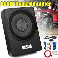 10 600W Under Seat Car Subwoofer Amplifier Ultra Thin Vehicle Active Subwoofer Bass Amplifier Speaker Enclosure Car Audio