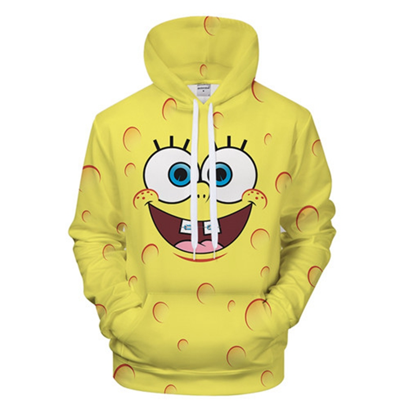 2018 Cute Series Sponge Toy 3D Hoodie Printed Boy Girl Sport Style Hoodie Sweatshirt Couple Cute BOB Hoodies Men Plus Size Hoody