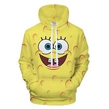 2018 Cute Series Sponge Toy 3D Hoodie Printed Boy Girl Sport Style Hoodie Sweatshirt