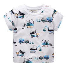 summer print t shirts for boys 2019 summer children t shirts kid clothes O-Neck Cartoon Fashion T-Shirts For boy tops tees
