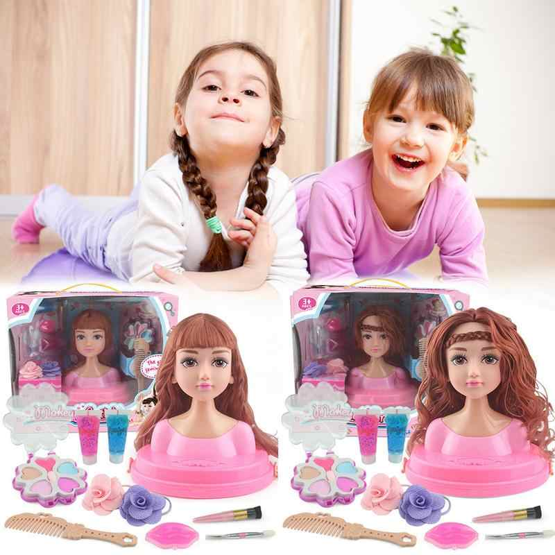 Children's Dressing Table Makeup Doll Houseplay Toy Girl Dressing Hairbrushing Tweezers Set Princess Hairdressing Toys For Kids