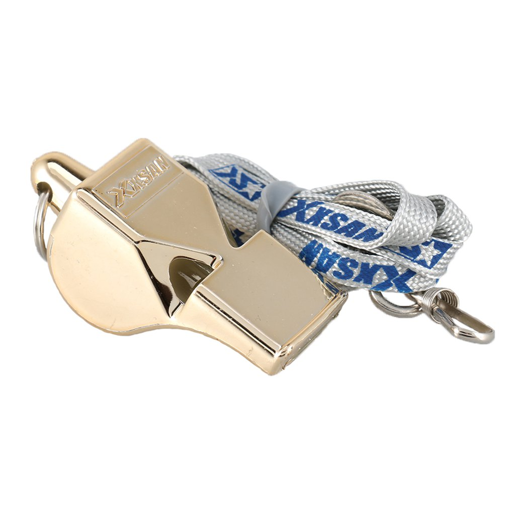 Metal Whistle Stainless Steel Extra Loud With Lanyard For School Sports Soccer Basketball And Lifeguard Protection