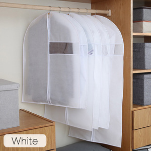 Image 2 - Clothes Dust Cover Non woven fabric Case for Household Hanging type Coat Suit Protect Storage Bag Wardrobe Organizer AQ065