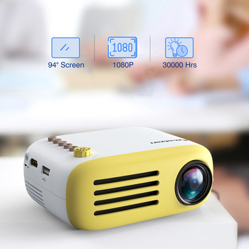 Excelvan YG200 Portable LED Pocket Mini Projector AV USB SD HDMI Video Movie Game Home Theater Video Projector Optional Battery