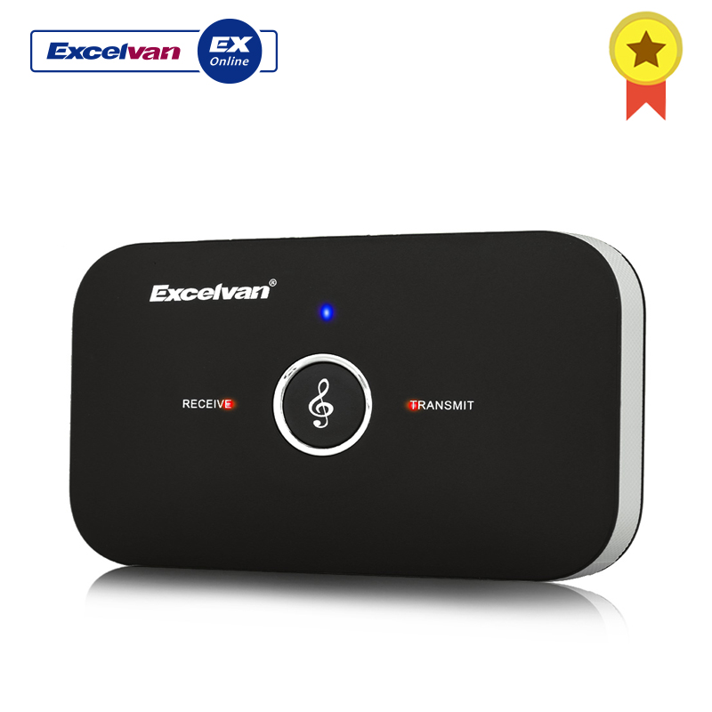 Excelvan Bluetooth RT-B6 Adapter HIFI Wireless Audio Bluetooth Receiver and Transmitter with 3.5MM Audio for TV MP3 PCExcelvan Bluetooth RT-B6 Adapter HIFI Wireless Audio Bluetooth Receiver and Transmitter with 3.5MM Audio for TV MP3 PC