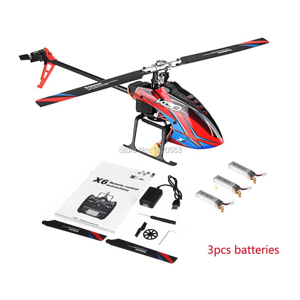 Oyuncaklar ve Hobi Ürünleri'ten RC Helikopterler'de Wltoys XK K130 B 2.4G 6CH Fırçasız 3D 6G Flybarless BNF RC Helikopter Için Süper Uyumlu FUTABA S FHSSRTF Yok verici'da  Grup 2