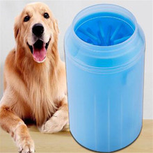 New Dog Cat Pet Solid Paw Cleaner Portable Convenient Foot Washer Cup -Soft Silicone Cleaning