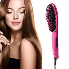 Free Shipping Hair Brush Fast Hair Straightener Comb hair Electric brush comb Irons Auto Straight Hair Comb brush(China)