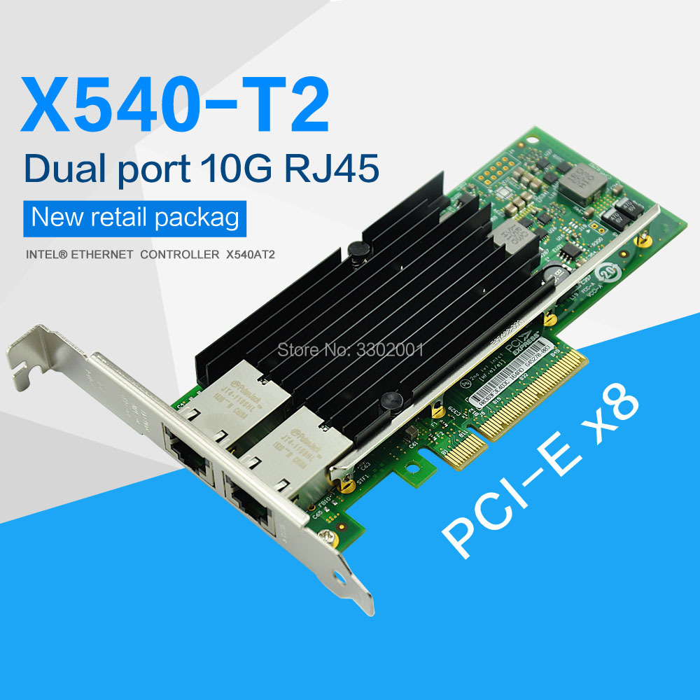 China OEM Intel x540-T2 10G PCI-Express dual RJ45 ports Ethernet Network Adapter
