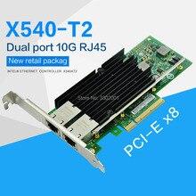 FANMI Dual port RJ45 PCI E X8 10Gb Ethernet konwergentnych Adapter sieci X540 T2