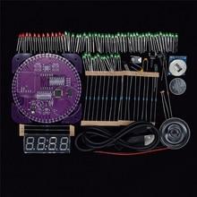 fb0d3a94 Четвёртого поколения DIY EC1838A DS1302 свет Управление вращения  светодиодный электронные часы комплект вращающийся электронные таймеры(