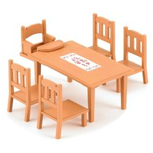 Doll House Accessories SYLVANIAN FAMILIES 2328097 Barbie Furniture Food Toys Dolls Stroller Table Chair Tableware
