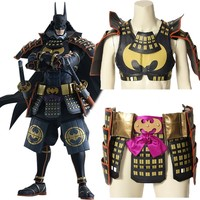 Batman Ninja Cosplay Bruce Wayne Costume Cloak Halloween Batman Custom Made Man Christmas Leather Accessories Armor Arm Guard