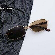 2018 Vintage Small Rectangle Sunglasses For Women Men Sun Gl