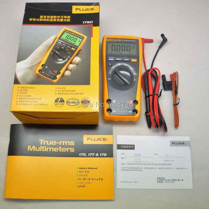 FLUKE 17B+ Digital Multimeter Tester DMM with TL75 Test