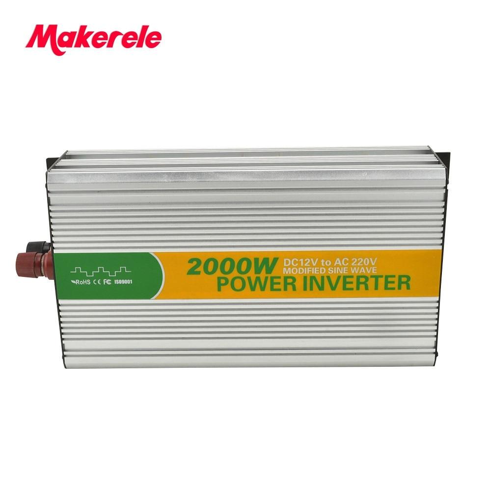 MKM2000-122G-C 12 volt 220 volt 2kw inversor 2kva inverter, modificado eletrônica circuito inversor de onda senoidal com carregador