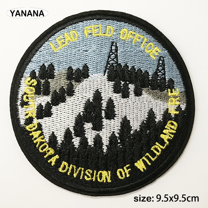 High quality landscape embroidery with badges Iron on Patches for Clothing DIY Hobby collection in Badges from Home Garden