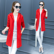 Cape coat thin cardigan new women's leisure joker long in the spring and autumn period and the long sleeve trench coat of cultiv недорого