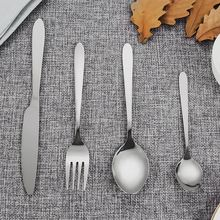 24pcs Stainless Steel Dinnerware Nontoxic Durable Flatware Set Knife Fork Tableware Western Tableware Suit With Gift Case