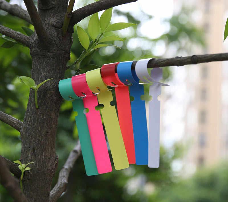 Garden Plant Pot Markers Plastic Stake Tags Yard Court Nursery O3E5 Label V7Z9