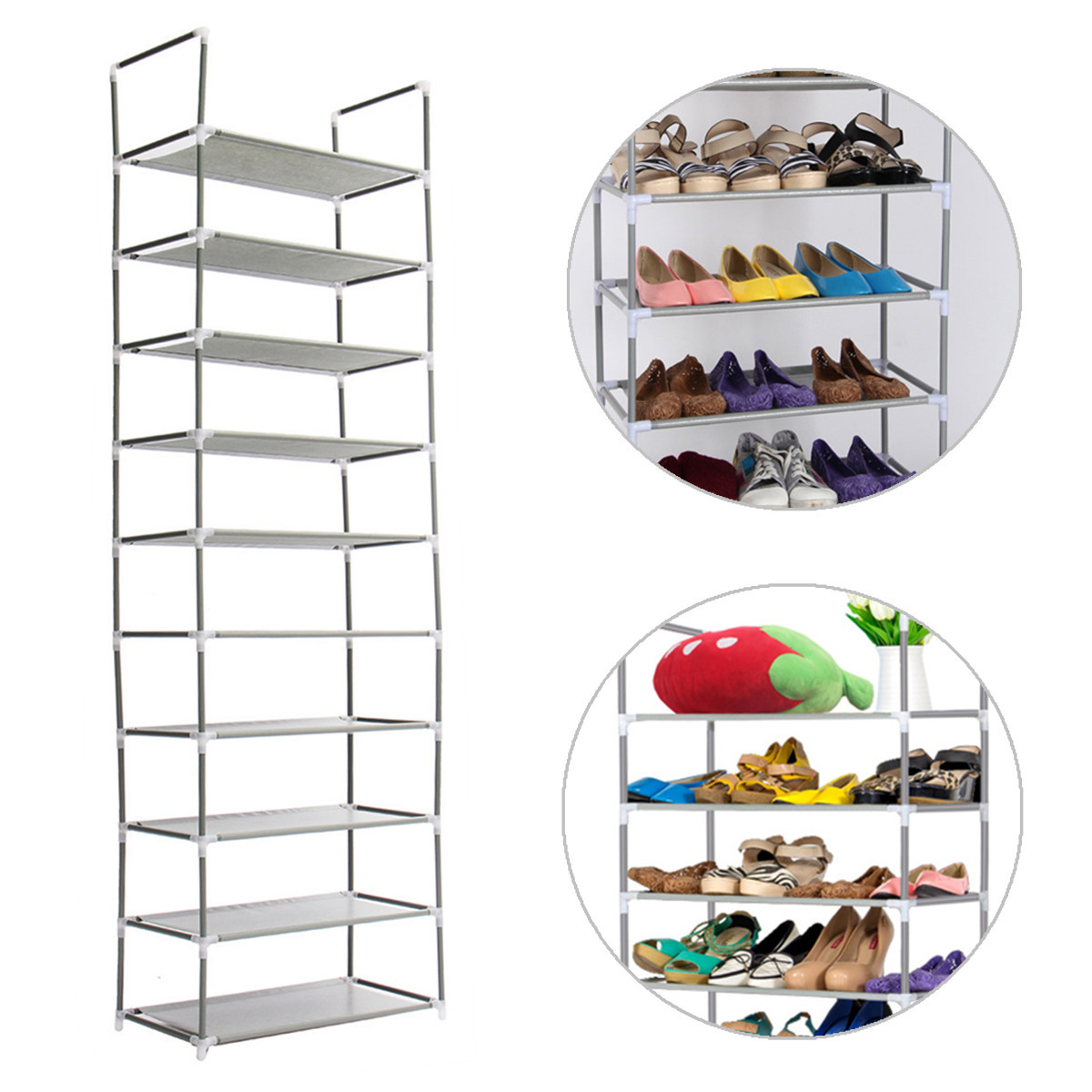 10 Layer Tier Modern Shoes Racks DIY Home Shoe Rack Shoe Cabinet Shelf Multi Tiers Shoes Storage Organizer Stand Holder