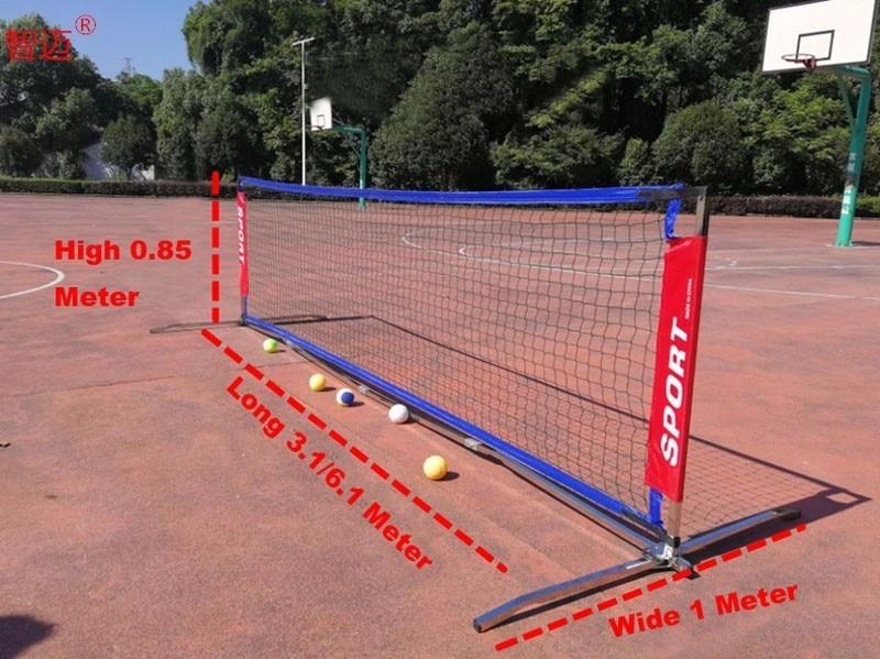 Portable 6.1/5.1/3.1 Meter Tennis Net Standard Tennis Net For Match Training Net Without Frame Tennis Racquet Sports Network