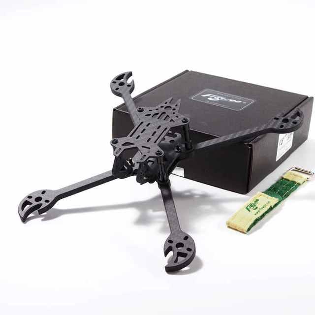 Actualización 2019 FLYWOO Vampires 230mm 5 pulgadas armazón de carreras con visión en primera persona Kit 5mm brazo soporta Foxeer Monsters Mini Pro para Dron RC gran oferta