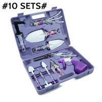Garden Tools Set 10 Pcs Lightweight Gardening Tools Kit Non slip Handle Garden Hand Tools Gifts With Anti rust Shovel Scissor