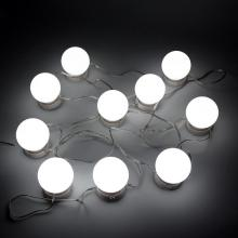 10pcs Light Bulb Makeup Mirror Vanity LED Bulbs Kit Adjustable Lighted Cosmetic