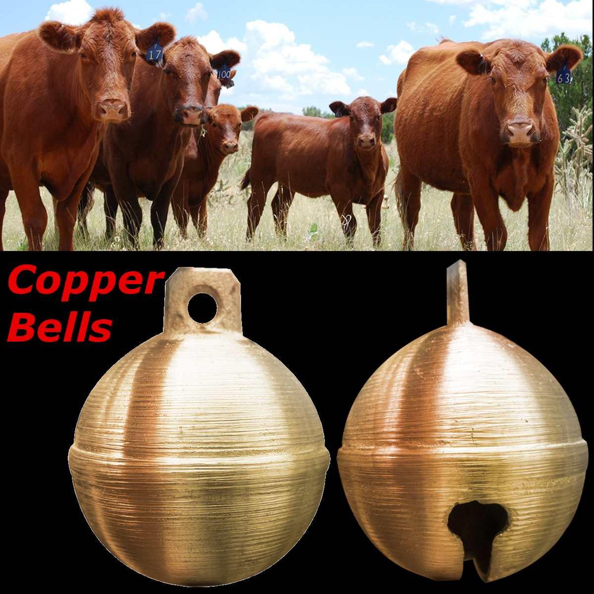 Animal Cow Horse Sheep Grazing Copper Bells Cattle Farm Copper Brass Bell USA