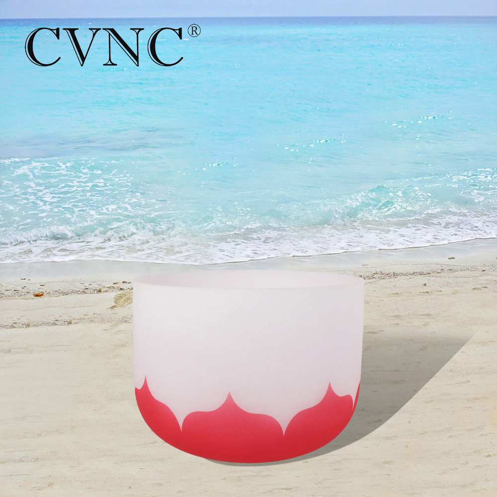 CVNC 10 Inch C Root Red Lotus Chakra Quartz Crystal Singing BowlCVNC 10 Inch C Root Red Lotus Chakra Quartz Crystal Singing Bowl