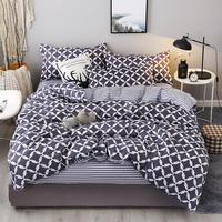 New Fashion Bedding Set 4pcs/3pcs Duvet Cover Sets Soft Cotton Bed Linen Flat Bed Sheet Set Pillowcase Home Textile Drop Ship 23