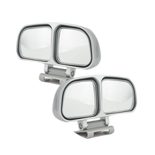 Left +Right Universal Car Blind Spot Mirror Wide Angle Rear View Adjustable Eliminates Spots