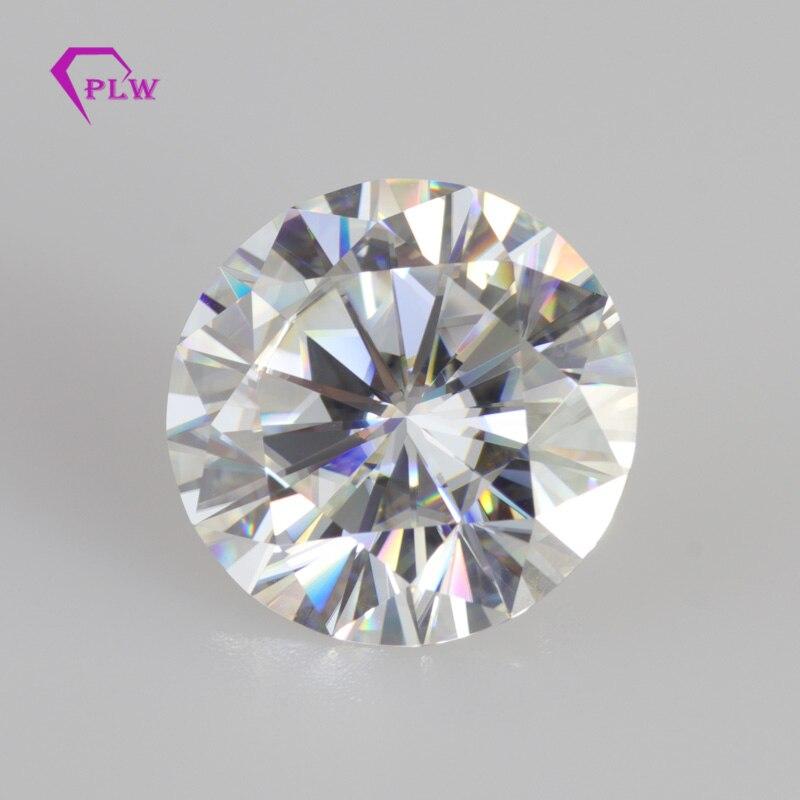 Prowansji biżuteria Hot sprzedaż 0.5 Carat 5mm kolor EF 3ex cięcia doskonałe Brilliant okrągły Moissanite VVS na pierścień kolczyk diament w Diamenty i kamienie jubilerskie luzem od Biżuteria i akcesoria na  Grupa 1