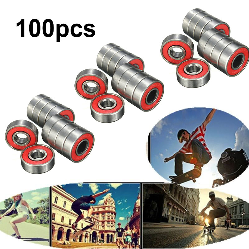 20/50/100pcs Skateboard Bearings Wheel Bearing For Skateboard Roller Skating Shoes ABEC-9 608RS