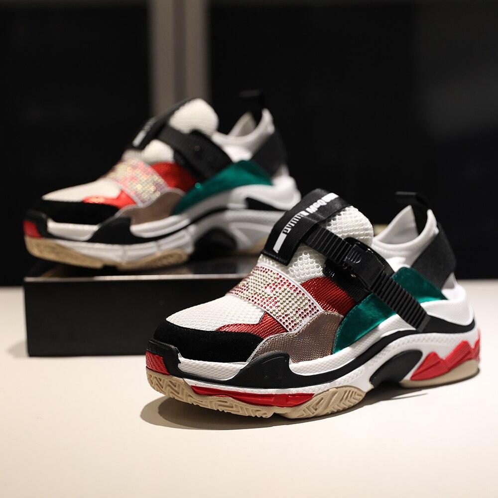 Malla Las Plataforma Transpirable Creepers Aumento 2018 Zapatillas Señoras Nuevas Mujeres Pisos Mujer La Zapatos De Black red Casual Altura white xZxASqRW