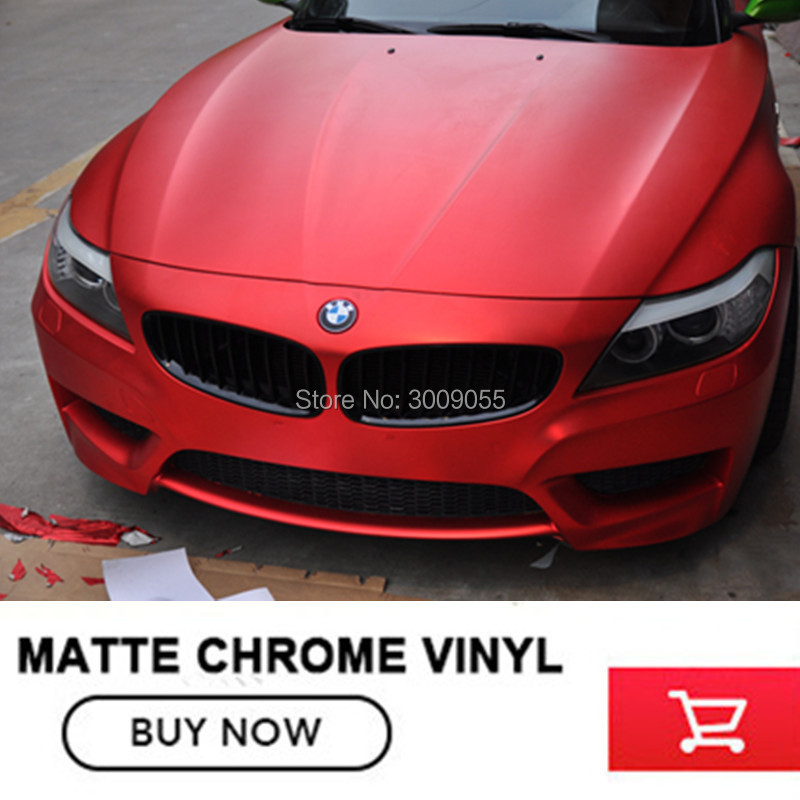 OPLARE Extremely Stretch Car Body Sticker red Matte Chrome Vinyl Wrap with Air Bubble Free 20m