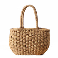 Fashion Summer Beach Bag Handmade Rattan Basket Women Holiday Bohemian Small Tote