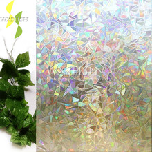 3D frosted color pattern decorative window  self-adhesive glass films,stained foil,heat insulation stickers