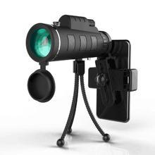 Открытый Монокуляр охота кемпинг областей телескоп HD 40×60 спортивные Монокуляр с телефона клип