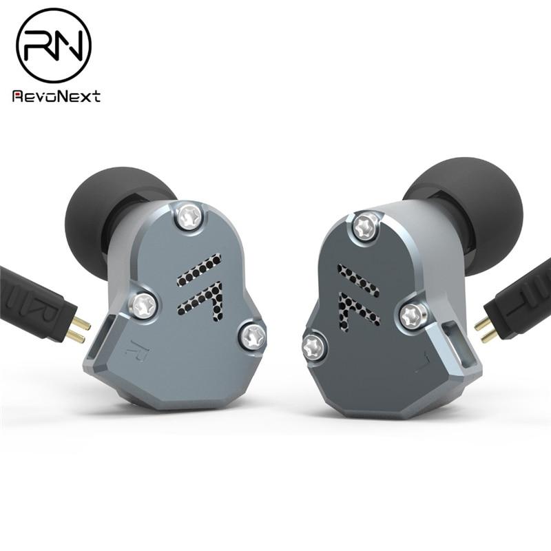 Revonext QT2 2DD 1BA Hybrid Earphone Metal Stereo Music Earbud Noise Isolating 2 Pin Fever Heavy