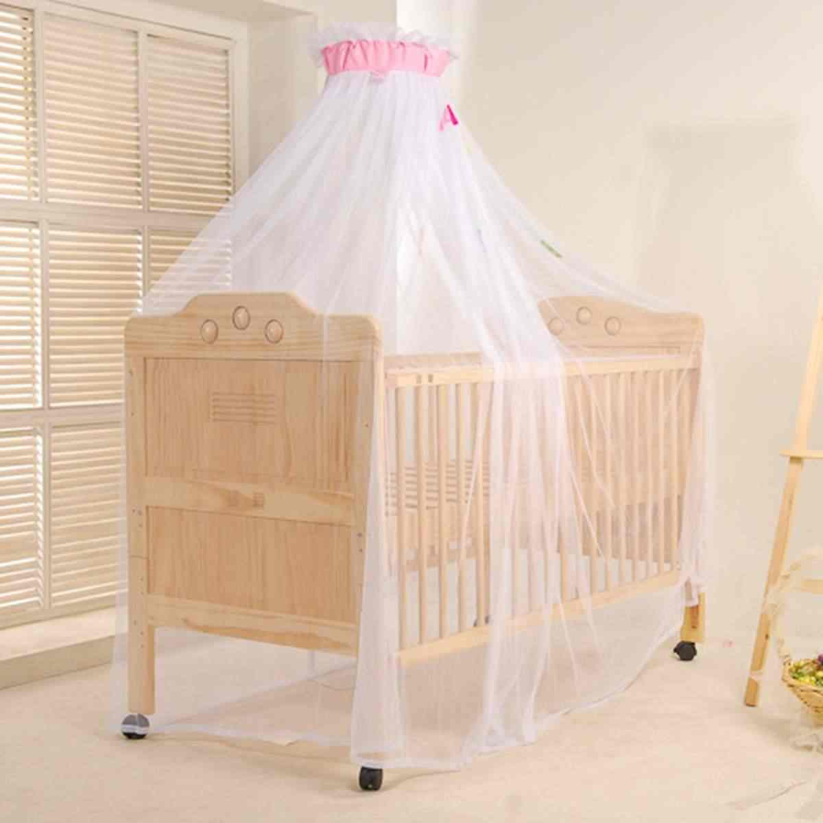 Curtain Dome Mosquito Dome Net Good Protecting Round Nylon Mesh Cloth Insect Bed Canopy Netting Outdoor 2 Colors 35x200x550cm