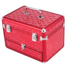 Portable Red Makeup Cosmetics Storage Bag