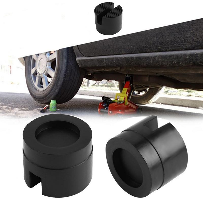 Floor Slotted Car Rubber Jack Pad Frame Protector Guard Adapter Jacking Disk Pad Tool For Pinch Weld Side Lifting Disk